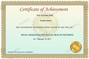 Mental Health Certificate Sample